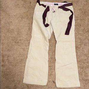 American Eagle White Cream slacks Sz 8 New